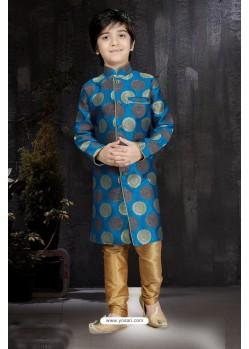 Blue Jacquard Kurta Pajama