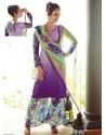 Purple Resham Work Pakistani Suit