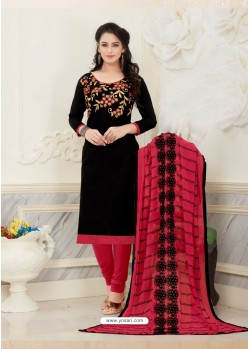 Stylish Black Embroidered Suit