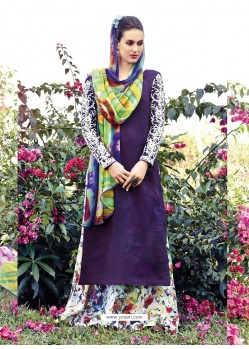 Blue Resham Work Pakistani Suit