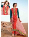 Orange Cotton Salwar Kameez