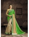 Classic Beige Embroidered Saree