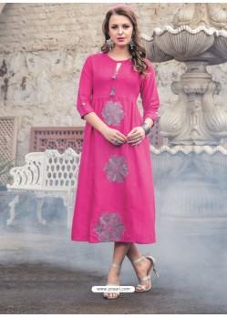 Classy Pink Embroidered Kurti
