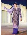 Purple Cotton Pakistani Suits