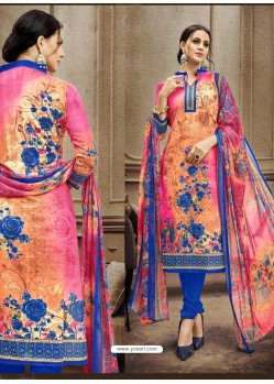 Outstanding Printed Multi Colour Designer Suit