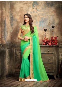 Adorable Green Crepe Silk Saree