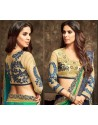 Marvelous Green Georgette Embroidered Saree