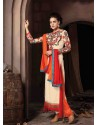 Off White Georgette Salwar Kameez