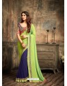 Awesome Blue Georgette Saree