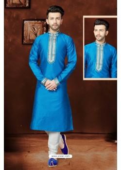 Stylish Blue Silk Kurta Pajama