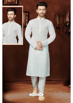 Excellent Off White Cotton Kurta Pajama