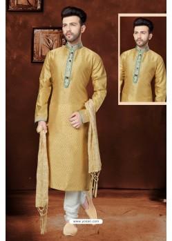 Trendy Beige Banglori Silk Kurta Pajama
