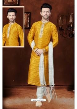 Superb Mustard Banglori Silk Kurta Pajama