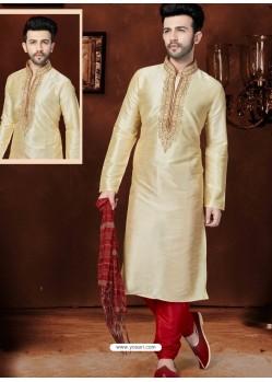 Excellent Golden Art Dupion Kurta Pajama