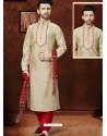Dashing Cream Silk Kurta Pajama
