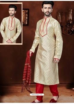 Superb Cream Banglori Silk Kurta Pajama