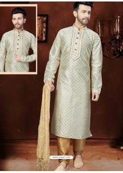 Classic Off White Silk Kurta Pajama
