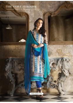Sky Blue Georgette Salwar Kameez