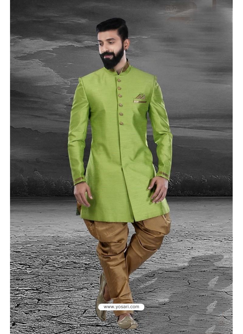 Classic Green Art Silk Kurta Pajama