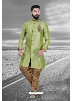 Stylish Green Art Silk Kurta Pajama