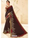Designer Deep Scarlet Embroidered Saree