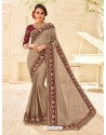 Classic Camel Embroidered Saree
