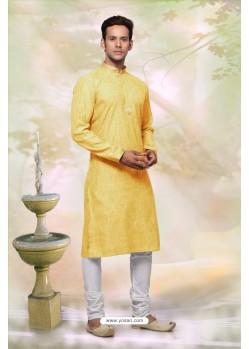 Mustard Festival Wear Kurta Pajama