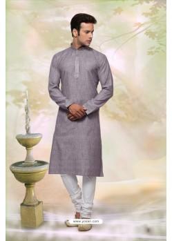 Classic Grey Cotton Kurta Pajama
