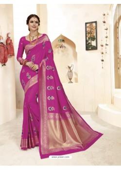 Amazing Rani Banarasi Silk Saree