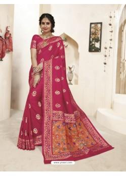 Designer Maroon Banarasi Silk Saree