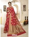Classic Red Banarasi Silk Saree