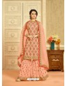 Faux Georgette Baby Pink Palazzo Suit
