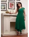 Green Embroidered Work Anarkali Suit