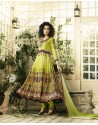 Designer Lemon Crepe Anarkali Suit