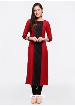Lovely Red Party Wear Kurti