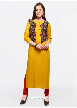 Glorious Yellow Party Wear Kurti