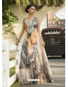 Invigorating Beige Party Wear Gown