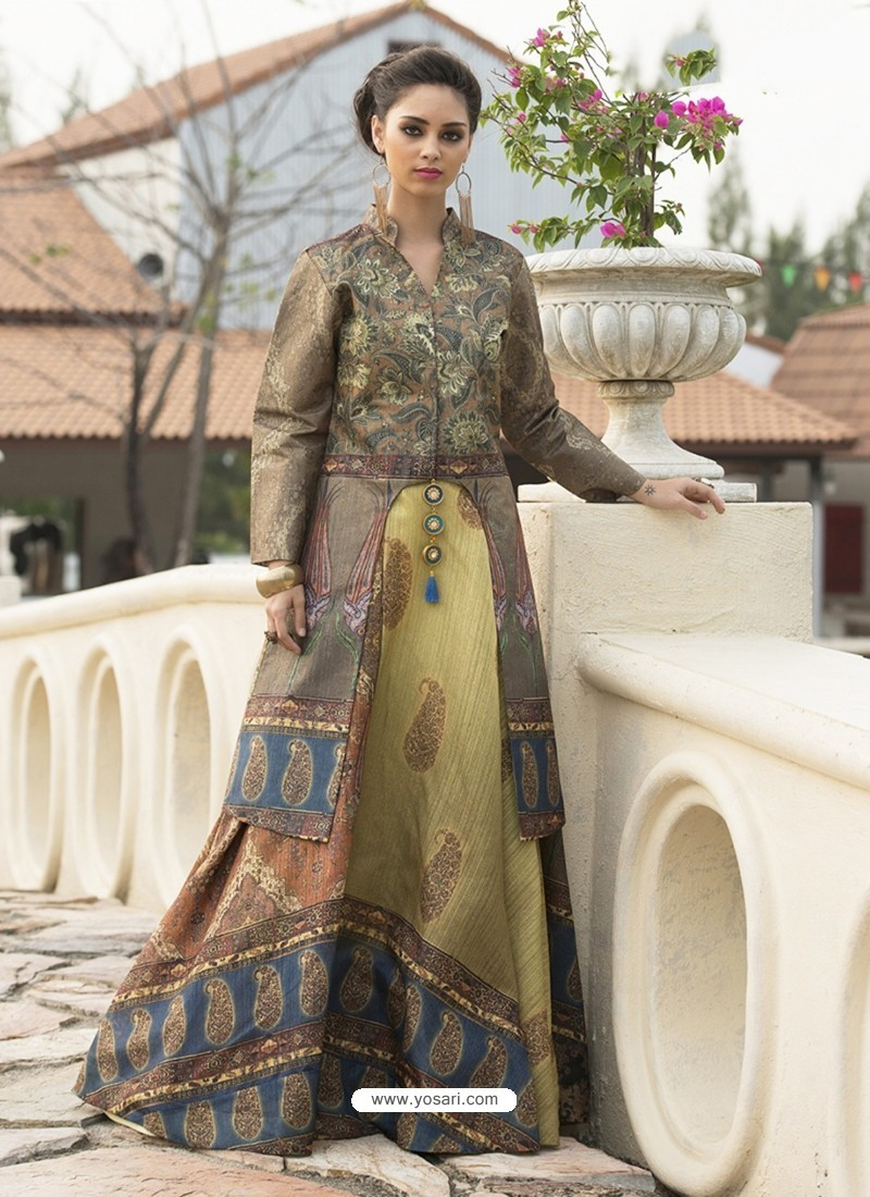 Deserving Taupe Printed Gown