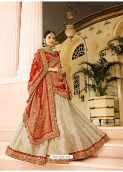 Rani Silk Embroidered Lehenga Choli