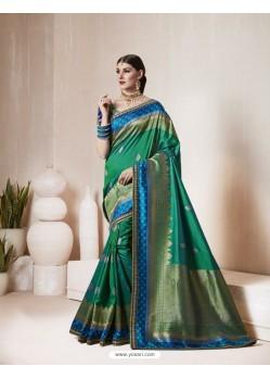 Classic Dark Green Silk Saree