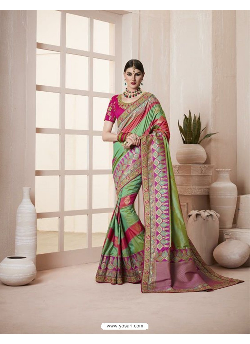 Marvelous Green Silk Saree