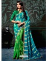 Green Casual Chiffon Saree