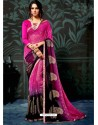 Rani Chiffon Printed Saree