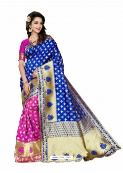 Fashionistic Royal Blue Silk Saree