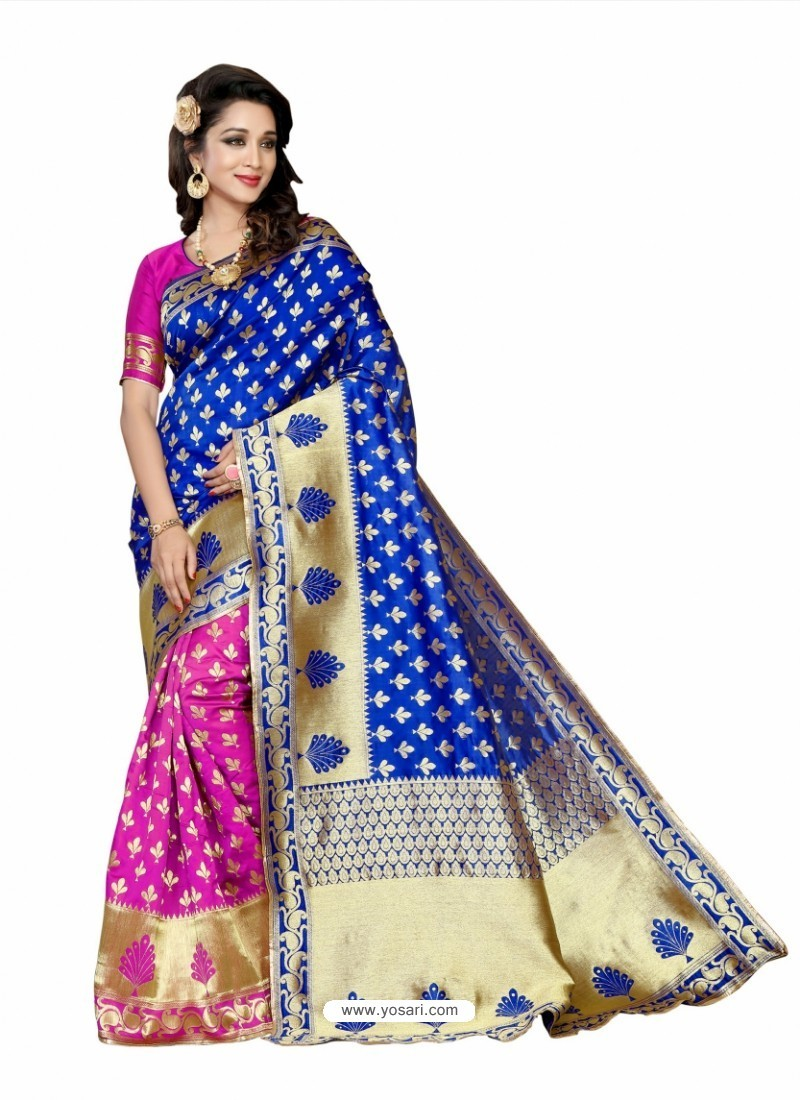Fashionistic Royal Blue Silk Saree