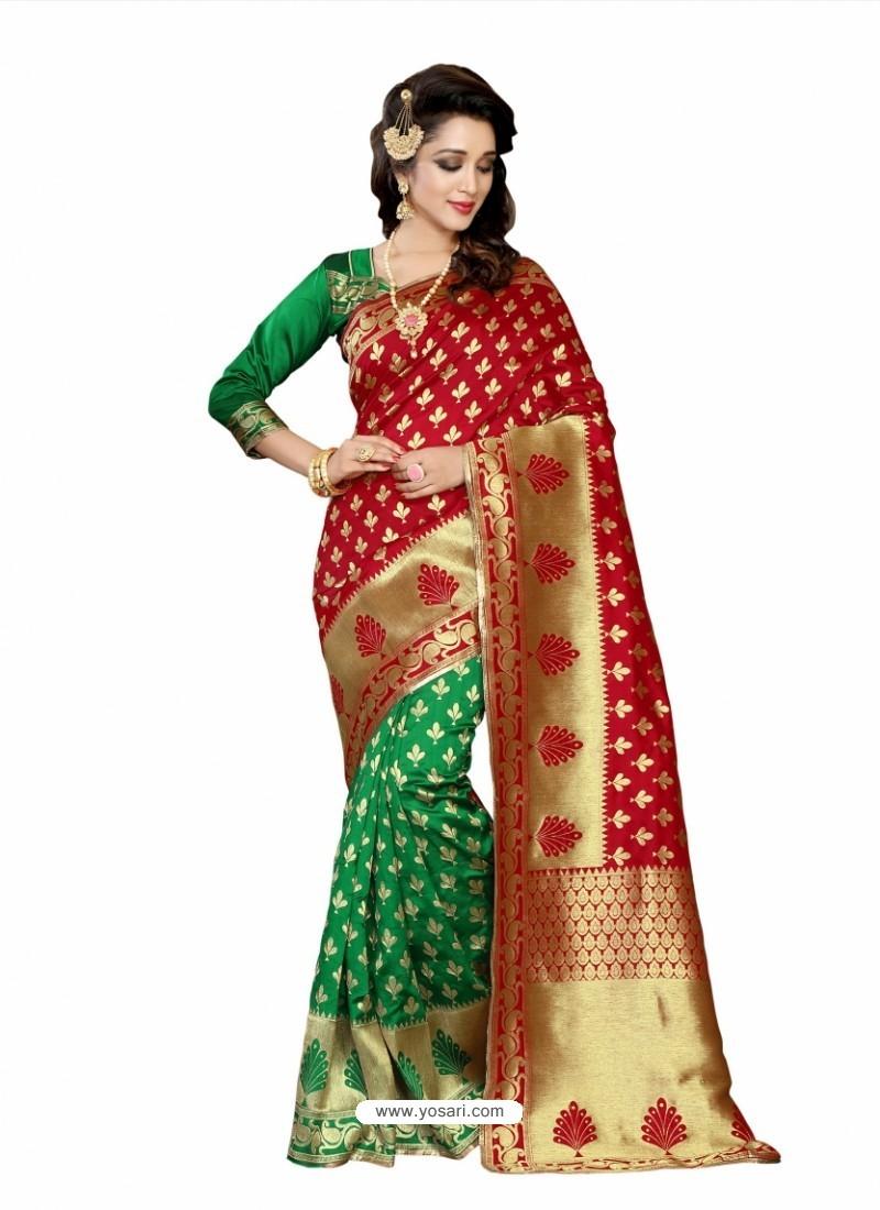 Traditional Red Silk Saree