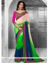 Multicolor Shaded Faux Chiffon Casual Saree
