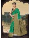 Fabulous Dark Green Silk Zari Work Saree