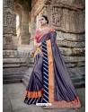 Fabulous Multi Colour Silk Border Work Saree