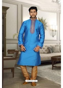 Blue Jharna Kurta Pajama